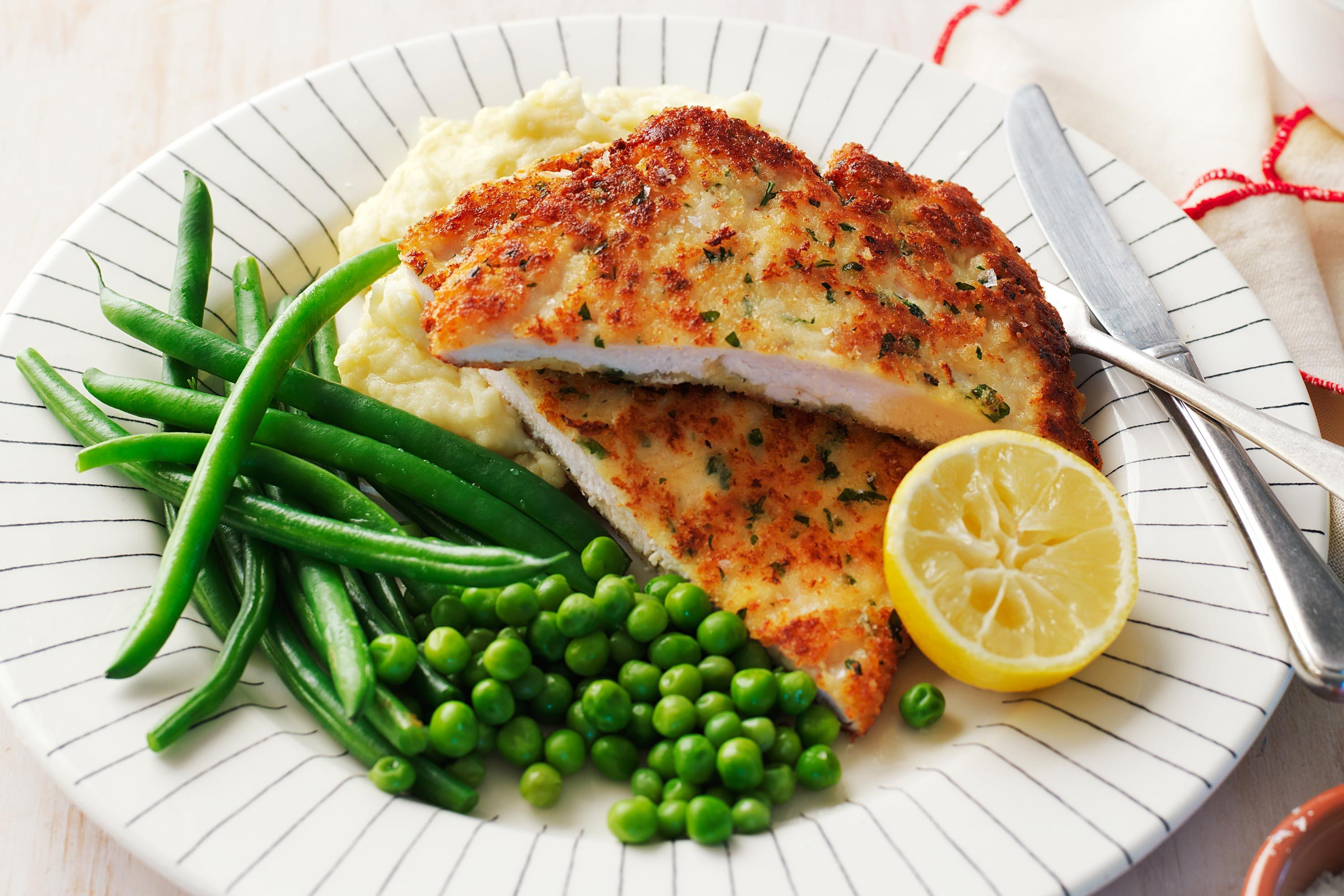 chicken-schnitzel-with-cheesy-mash-beans-and-peas-107918-1